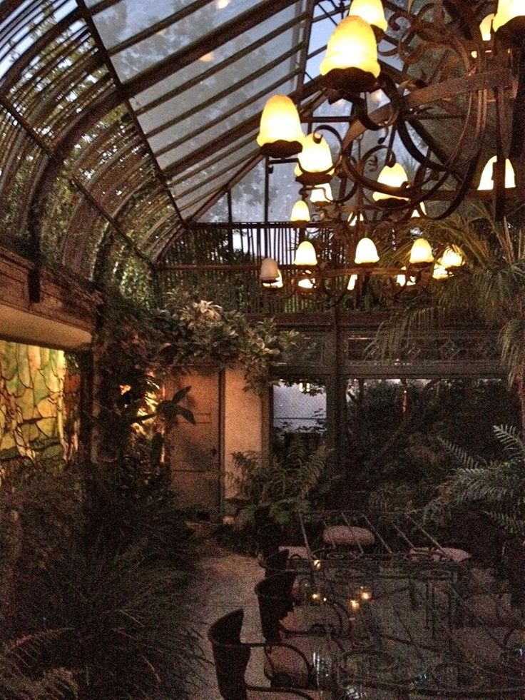 how about a old french greenhouse to have dinner parties or events in?
