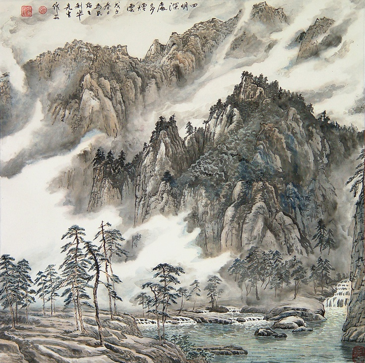 Pin by mary hanna on chinese art pinterest for Chinese mural art