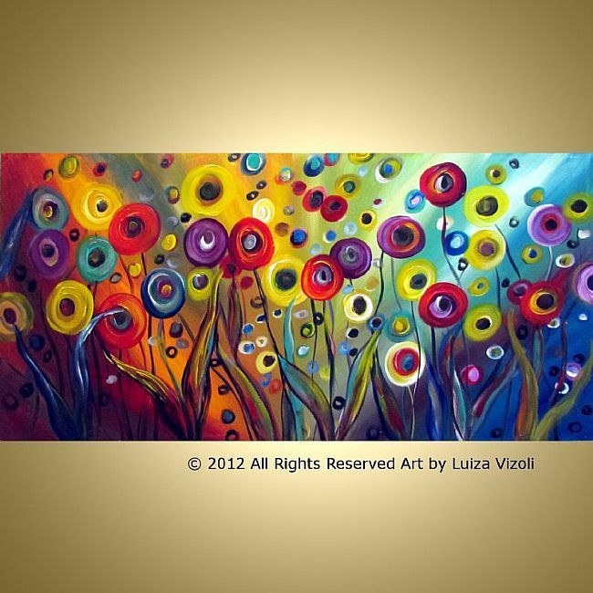 Whimsical Art | ... POPPIES Whimsical Art - by LUIZA VIZOLI from ORIGINAL Paintings 2012