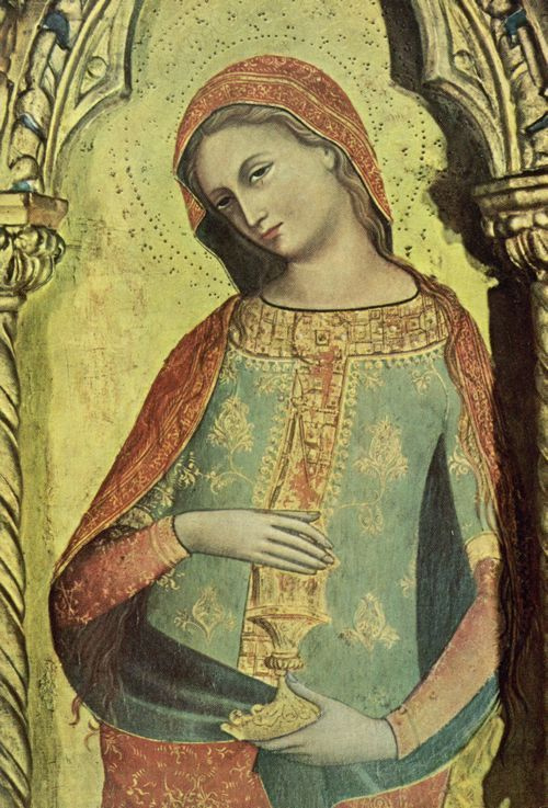 Veneziano, Lorenzo: Triptychon Lion: Magdalena; 14th.C.; Italy #mary #magdalene