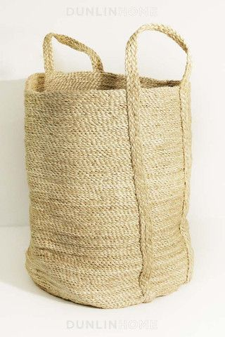 Jute Storage Collection. Tall Basket. Natural