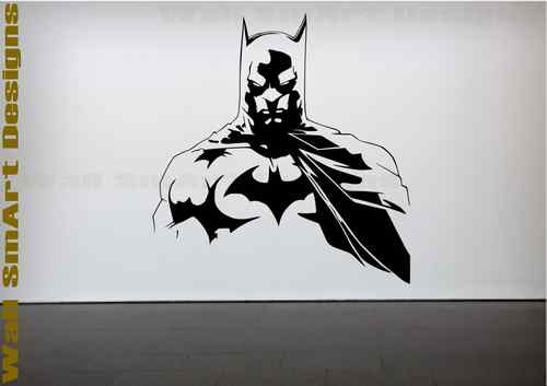 Details about batman wall sticker bedroom childrens kids for Batman wall mural decal