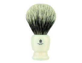 Brocha de afeitar Vie-Long Tejón blanco mango blanco 16728