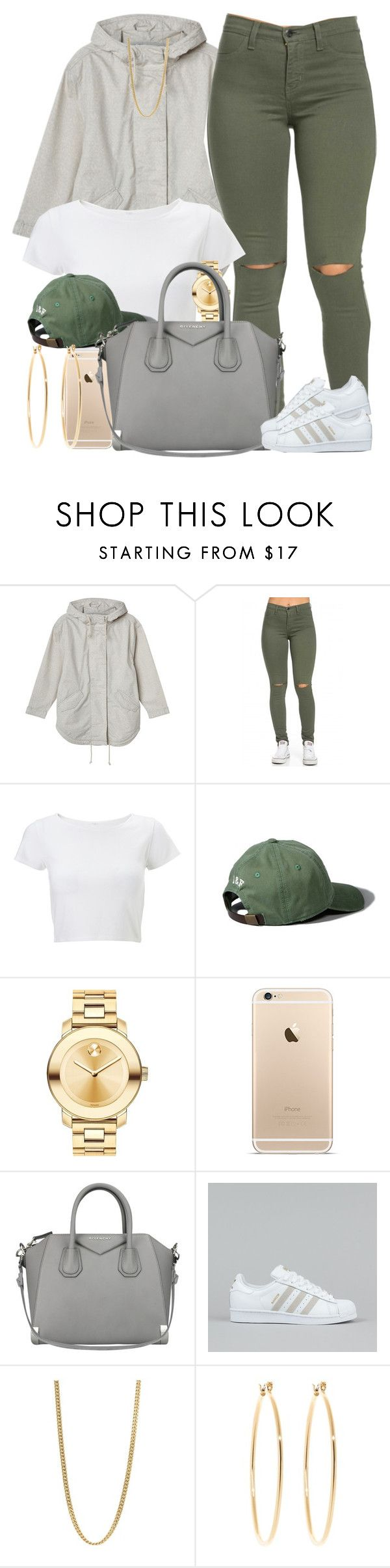 """"" by livelifefreelyy ❤ liked on Polyvore featuring moda, Monki, Lipsy, Abercrombie & Fitch, Movado, Givenchy, adidas, Marc by Marc Jacobs, Brooks Brothers e women's clothing"