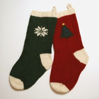Learn to knit a Christmas stocking.