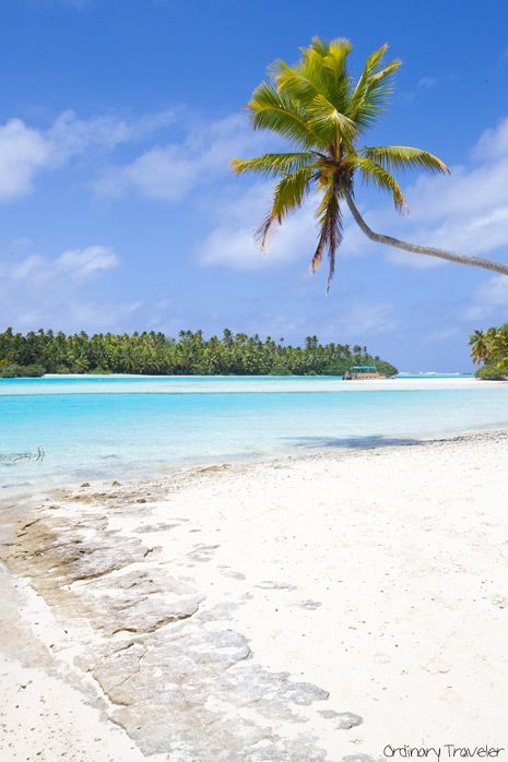 One Foot Island in Aitutaki, Cook Islands