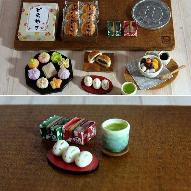 今日は中秋の名月。 お月見、いこかな。((( *´꒳`* ))) #ミニチュア#ミニチュアフード #中秋の名月 #和菓子 #うさぎまんじゅう #miniature #miniaturefood