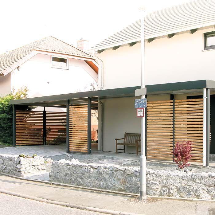 Carport Von Siebau Als Eingangsüberdachung