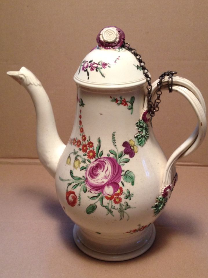 Creamware Coffee-pot C. 1775.