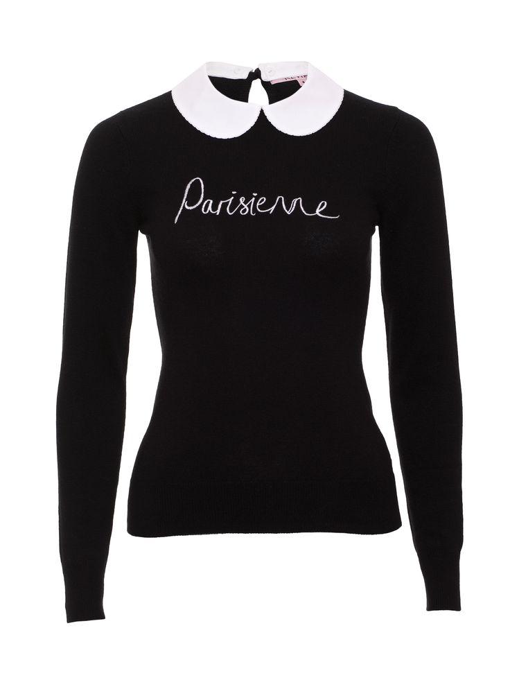Parisienne Jumper   Black & Cream   Jumper