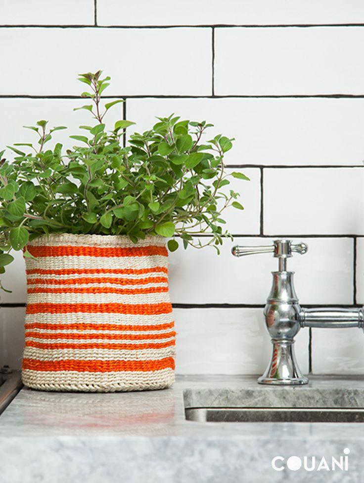 COUANI Catalogue 2014 // the perfect kitchen sink addition KUFU orange baskets //