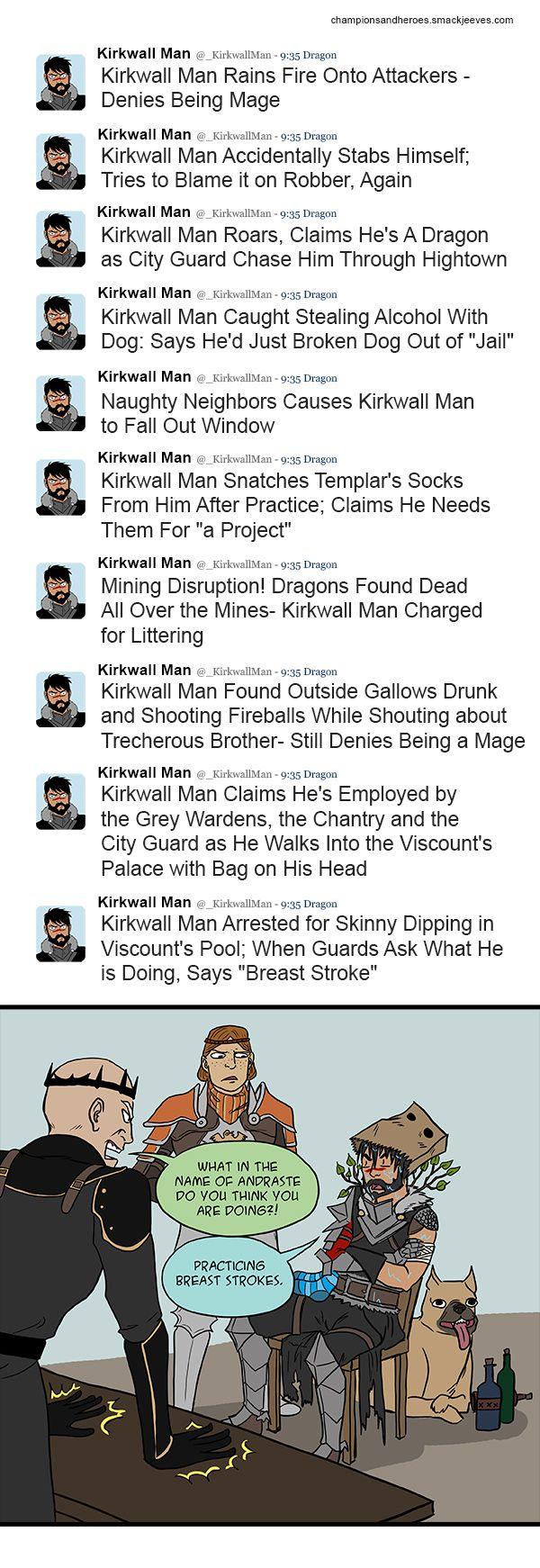 Kirkwall man comic