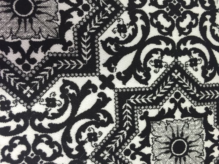 Blackwhite fabrics design