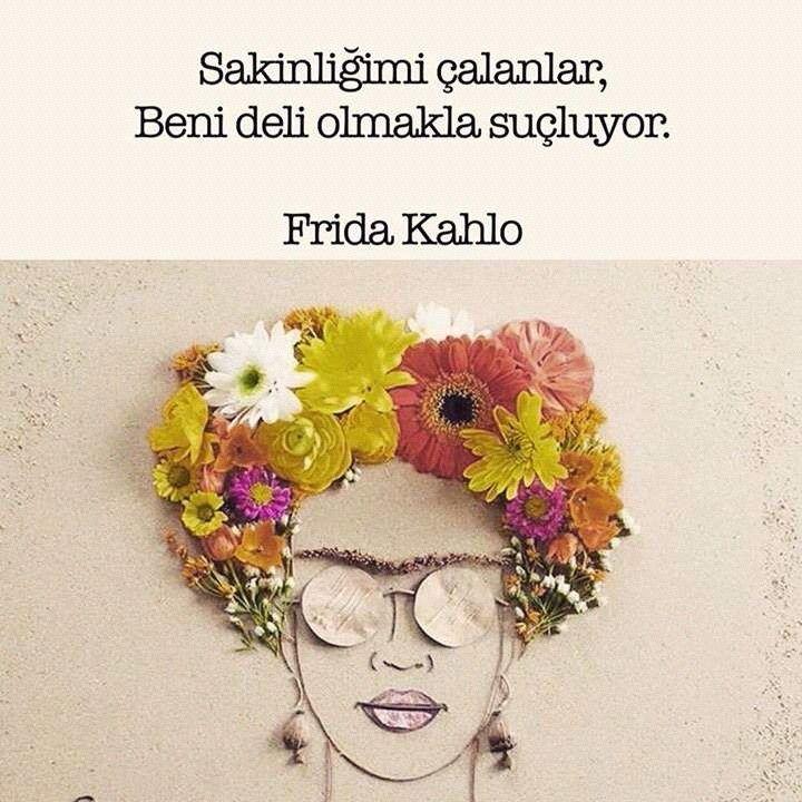 Sakinliğimi çalanlar, Beni deli olmakla suçluyor. - Frida Kahlo #sözler #anlamlısözler #güzelsözler #manalısözler #özlüsözler #alıntı #alıntılar #alıntıdır #alıntısözler #şiir #edebiyat