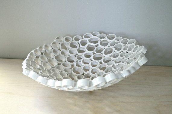 Contemporary fruit bowl, minimal organic home decor, contemporary ceramics, Custom order