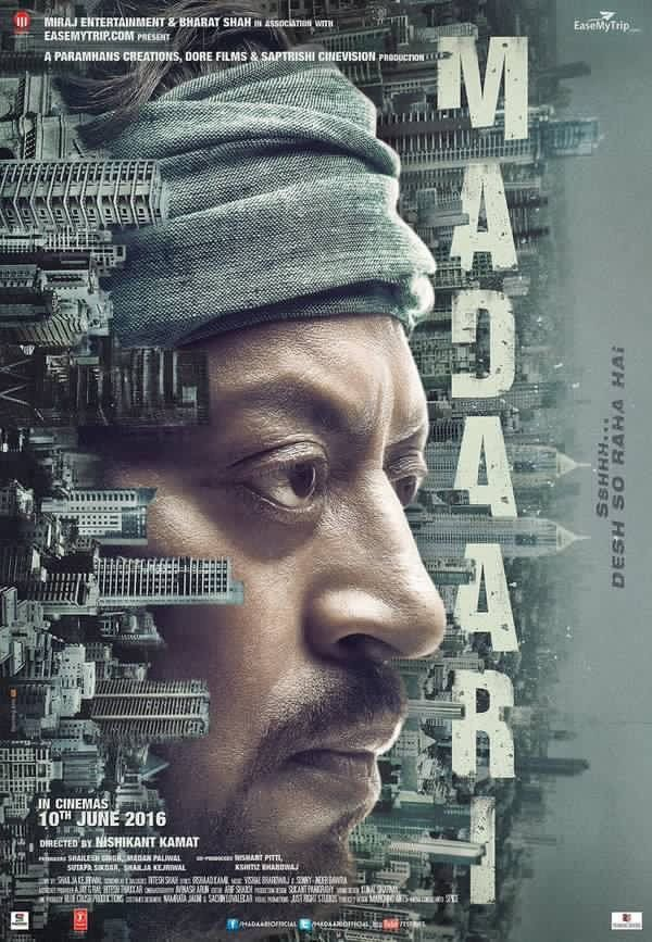 Here's the first look poster of Irrfan Khan starrer, ''Madaari''
