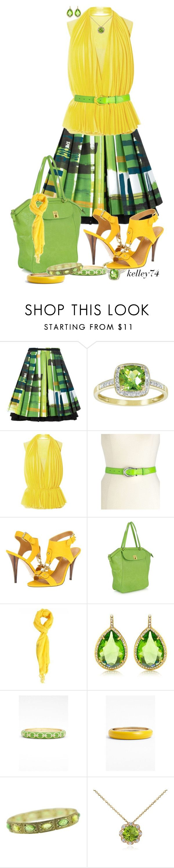 """""""Lemon-Lime"""" by kelley74 ❤ liked on Polyvore featuring Eggs, Lauren Ralph Lauren, Nine West, Alviero Martini 1° Classe, Juicy Couture, Sequin, 1928 and Blue Nile"""