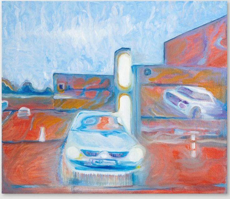 Car illusion www.artoutloop.com #car, #urban, #city, #oil, #painting, #light