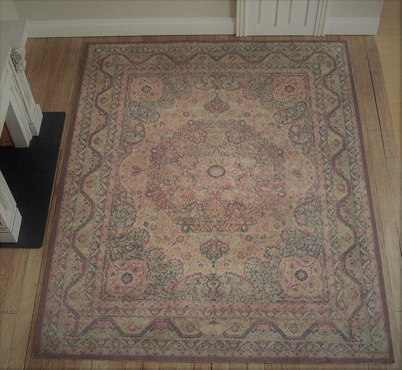 Large Or Very Large Faded Dollhouse Carpet The Master S Study Miniature Rug For 1 6th And 1 12th Sca Dollhouse Accessories Rugs On Carpet Printing On Fabric