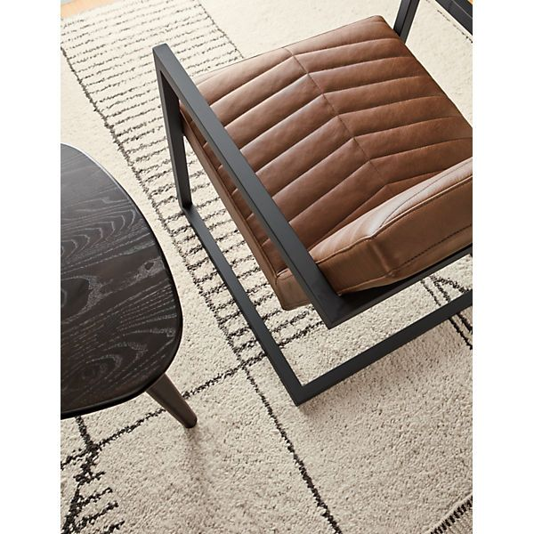 Room Amp Board Ryker Lounge Chair Leather Chaise Lounge