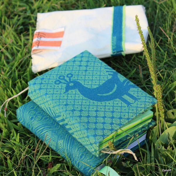 twin DIY-books: DIDYMOS Phau Aqua & Old  Standard Aquagrun
