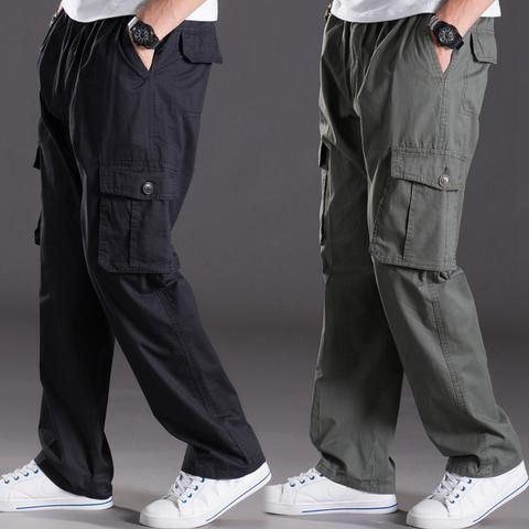 official supplier On Clearance new specials Spring and summer thin section casual pants men plus size ...