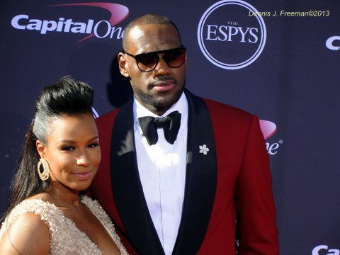 NBA star LeBron James and wife Savannah at the 2013 ESPYS. Photo: Dennis J. Freeman