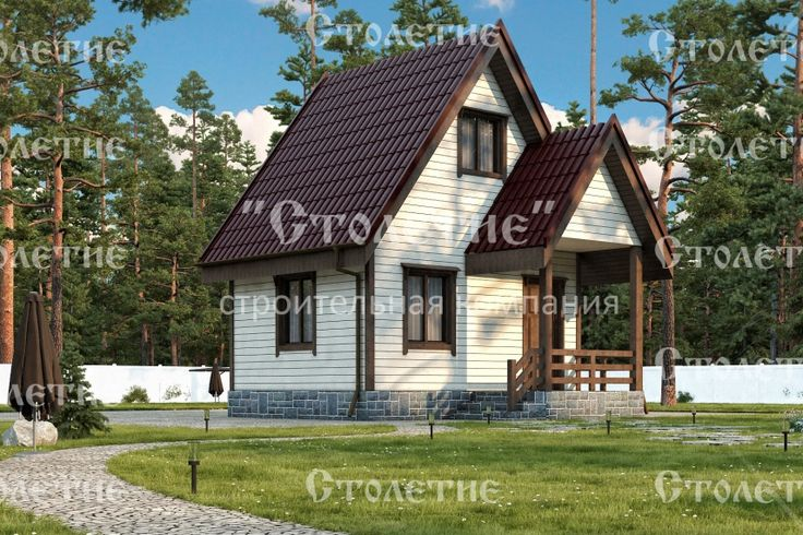 Проект дома ДБ-09 размером 4 на 5 метра в цветом решении Лето