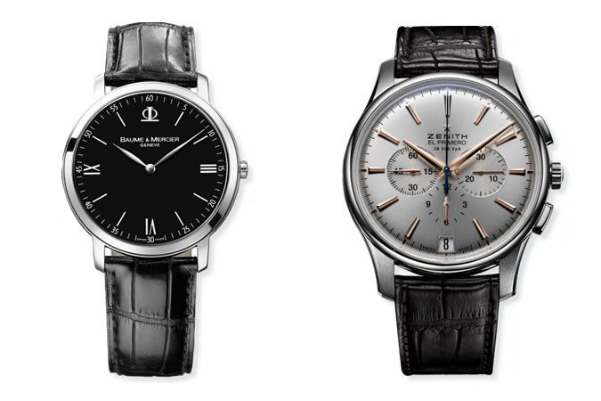Baume & Mercier Classima Stainless Steel and Zenith Captain Black Automatic Chronograph Watch