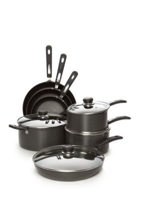 Cooks Tools  Gray 14-Piece Hard Anodized Cookware Set