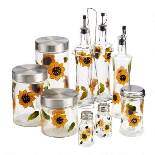 One Of My Favorite Discoveries At ChristmasTreeShops.com: Handpainted  Sunflower Kitchen Accessories