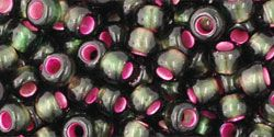 As low as $2.09 #TR06-2204/c #TOHO Seed Bead Round 6/0 Silver-Lined Frosted Olivine- Pink Lined.