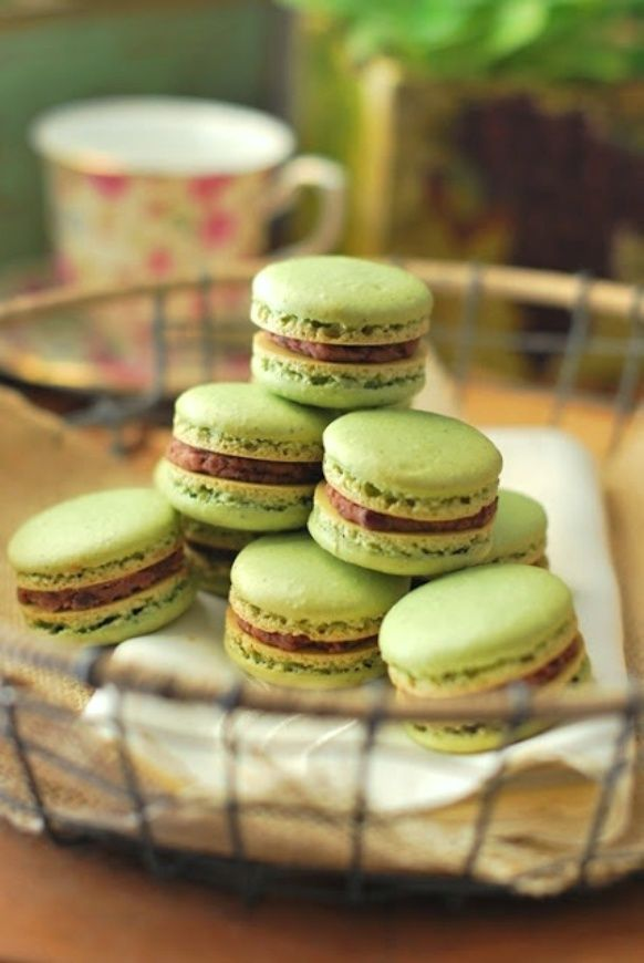 Green Tea Macarons | Omnomnom! | Pinterest