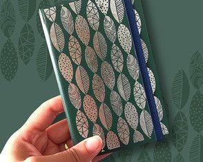 Caderninho Folhagem - Verde