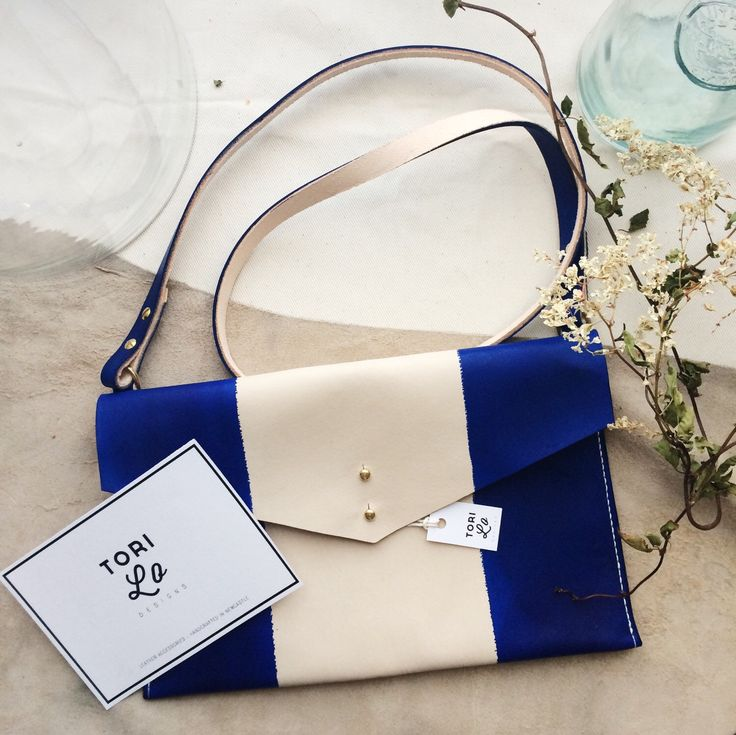 leather hand dyed crossbody, ipad case, tablet holder, nautical clutch, striped purse, resist dye leather, navy blue, summer nautical bag. by ToriLoDesigns on Etsy https://www.etsy.com/listing/247130046/leather-hand-dyed-crossbody-ipad-case