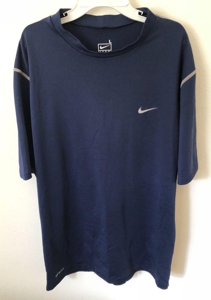 7465b353 Nike Compression Shirt- Navy Blue - Boys Size Large -No Reserve | eBay