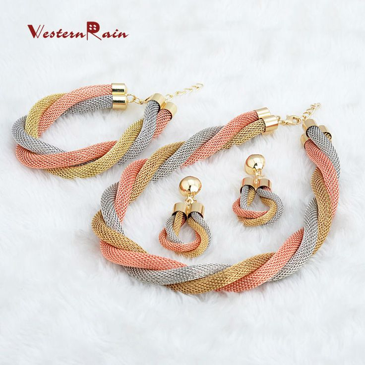 Find More Jewelry Sets Information about WesternRain Hot sale!African Costume Jewelry Gold Plated Twisted Chain Necklace And bracelet/Chunky & Big Fashion Jewelry A081,High Quality jewelry tattoo,China jewelry sewing Suppliers, Cheap jewelry cute from Shop717437 Store on Aliexpress.com