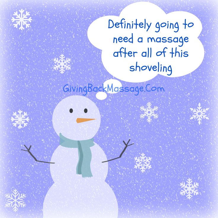 Snowman Advice: Book your massage today!