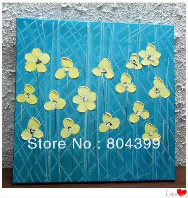100% el boya modern soyut büyük duvar sanatı palet bıçak boya tuval sanat doku boyama(China (Mainland))