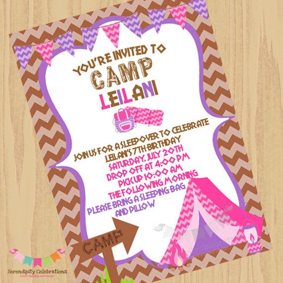 Best 25 camping invitations ideas on pinterest camping party diy girl camping invitation glamcamping by serendipityprintable 1200 stopboris Images