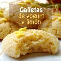 :) Galletas de yogurt y limón | Más en https://lomejordelaweb.e