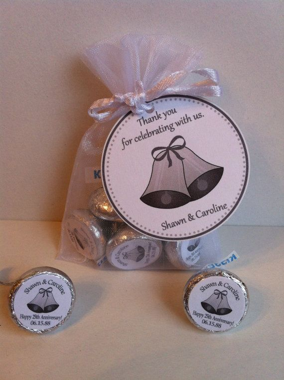25th Anniversary Favor Bag Set by SweetDesignsbyRegan on Etsy, $35.00