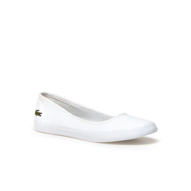 Women S Marthe Canvas Ballerina Flats Lacoste Shoes Women White Fashion Sneakers Ballerina Flats