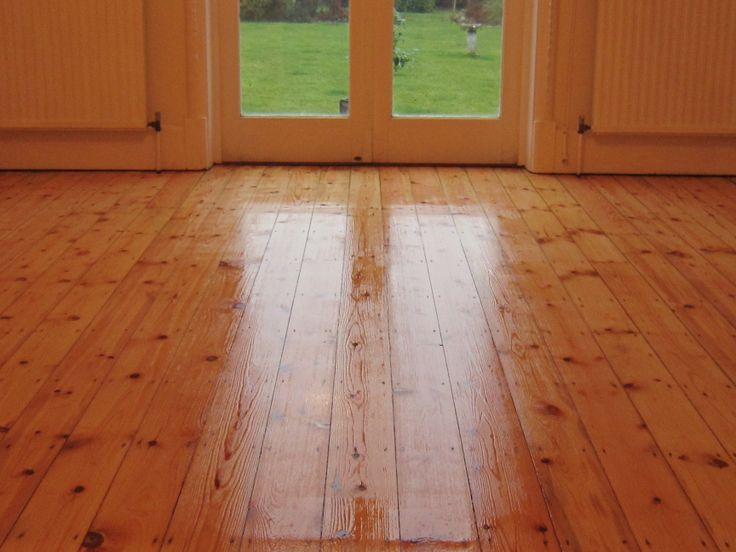 Just after lacquering the floor