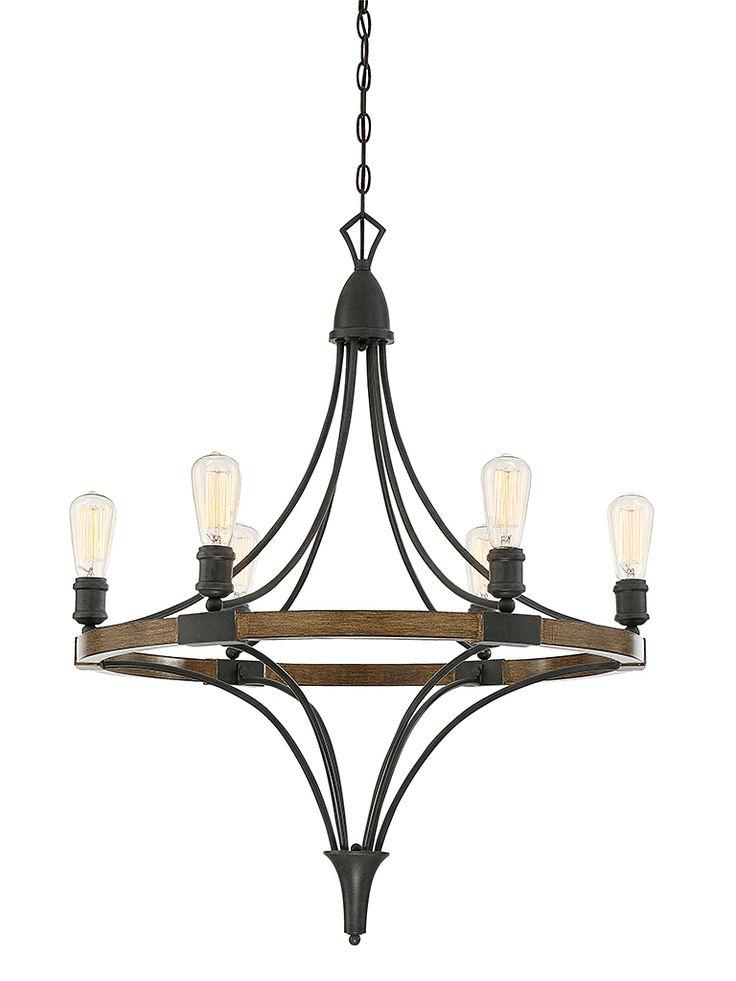 Six Light Chandelier  | Transitional Lighting | AlliedLighting.net