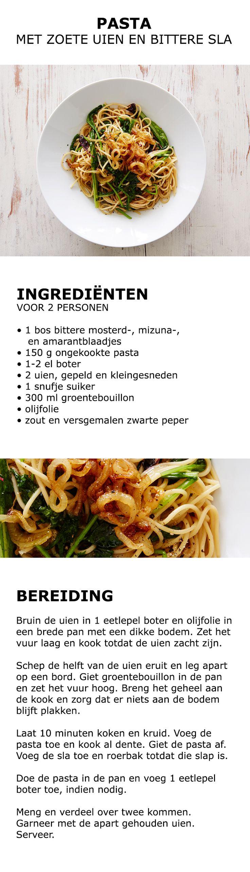 Inspiratie voor in de keuken - Pasta met zoete uien | #IKEA #IKEAnl #pasta #ui #sla #koken #inspiratie #eten #kweken #tuinieren #groente #kruiden