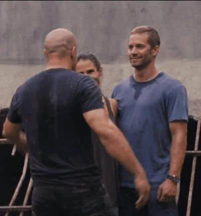 And this last hug, between Diesel, Brewster, and Walker. | The Fast & Furious Team Make An Emotional Video Tribute To Paul Walker
