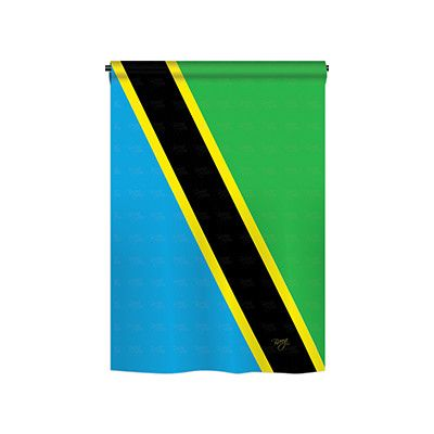 TwoGroupFlagCo Tanzania 2-Sided Vertical Flag Size: