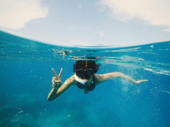 Snorkeling pulau peucang