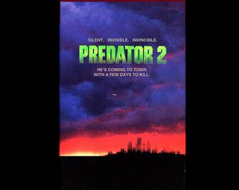 "PREDATOR 2 - VHS 1990 ""R"" - Danny Glover - Gary Busey - Ruben Blades - Kevin Peter Hall - Maria Conchita Alonso - Stephen Hopkins, Director"